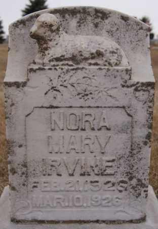 IRVINE, NORA MARY - Minnehaha County, South Dakota | NORA MARY IRVINE - South Dakota Gravestone Photos