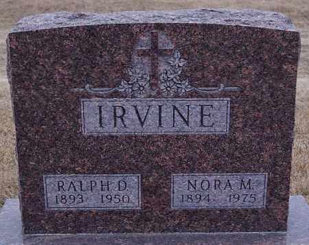 IRVINE, NORA M - Minnehaha County, South Dakota   NORA M IRVINE - South Dakota Gravestone Photos