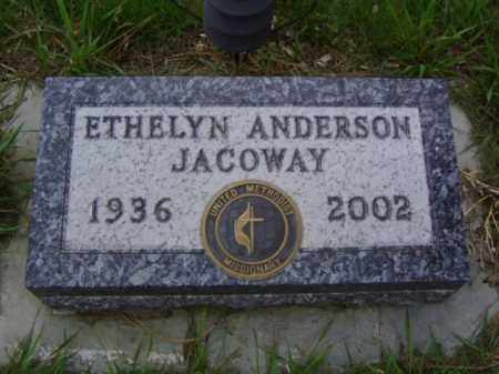 ANDERSON JACOWAY, ETHELYN MARIE - Minnehaha County, South Dakota | ETHELYN MARIE ANDERSON JACOWAY - South Dakota Gravestone Photos