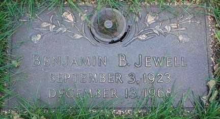 JEWELL, BENJAMIN B., - Minnehaha County, South Dakota   BENJAMIN B., JEWELL - South Dakota Gravestone Photos