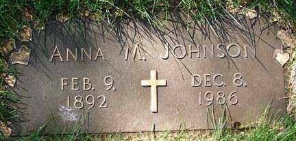 JOHNSON, ANNA M. - Minnehaha County, South Dakota | ANNA M. JOHNSON - South Dakota Gravestone Photos