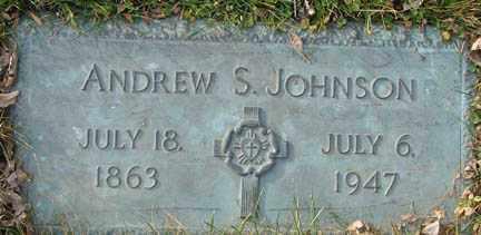 JOHNSON, ANDREW S. - Minnehaha County, South Dakota   ANDREW S. JOHNSON - South Dakota Gravestone Photos