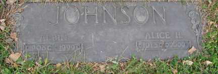 JOHNSON, ALICE - Minnehaha County, South Dakota | ALICE JOHNSON - South Dakota Gravestone Photos