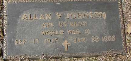 JOHNSON, ALLAN V. - Minnehaha County, South Dakota | ALLAN V. JOHNSON - South Dakota Gravestone Photos
