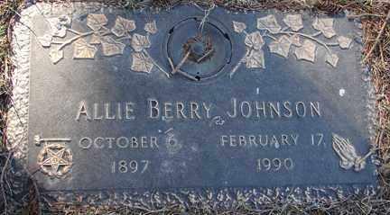JOHNSON, ALLIE BERRY - Minnehaha County, South Dakota   ALLIE BERRY JOHNSON - South Dakota Gravestone Photos