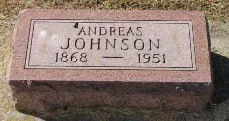 JOHNSON, ANDREAS - Minnehaha County, South Dakota | ANDREAS JOHNSON - South Dakota Gravestone Photos