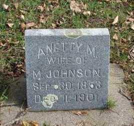 JOHNSON, ANETTY M. - Minnehaha County, South Dakota | ANETTY M. JOHNSON - South Dakota Gravestone Photos