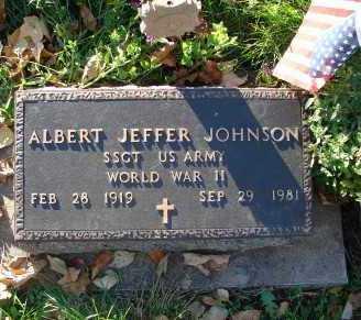 JOHNSON, ALBERT JEFFER - Minnehaha County, South Dakota | ALBERT JEFFER JOHNSON - South Dakota Gravestone Photos