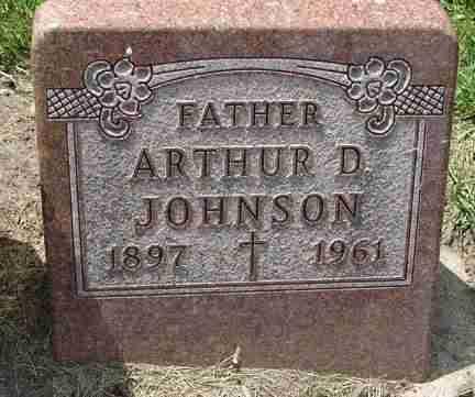 JOHNSON, ARTHUR D. - Minnehaha County, South Dakota | ARTHUR D. JOHNSON - South Dakota Gravestone Photos