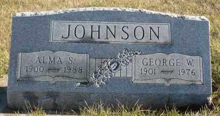 JOHNSON, GEORGE W. - Minnehaha County, South Dakota | GEORGE W. JOHNSON - South Dakota Gravestone Photos