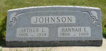 JOHNSON, HANNAH E. - Minnehaha County, South Dakota | HANNAH E. JOHNSON - South Dakota Gravestone Photos