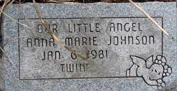 JOHNSON, ANNA MARIE - Minnehaha County, South Dakota   ANNA MARIE JOHNSON - South Dakota Gravestone Photos