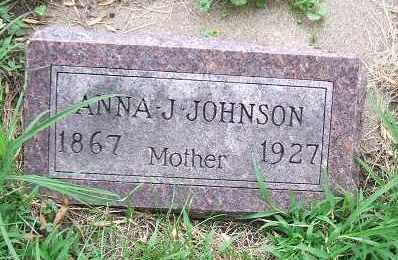 JOHNSON, ANNA J. - Minnehaha County, South Dakota | ANNA J. JOHNSON - South Dakota Gravestone Photos