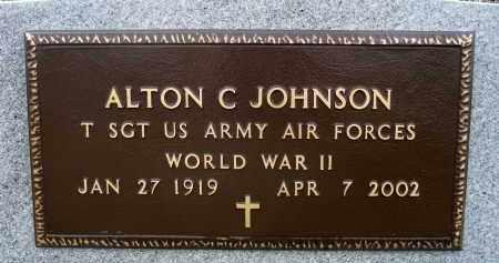 JOHNSON, ALTON CURTIS (WWII) - Minnehaha County, South Dakota | ALTON CURTIS (WWII) JOHNSON - South Dakota Gravestone Photos