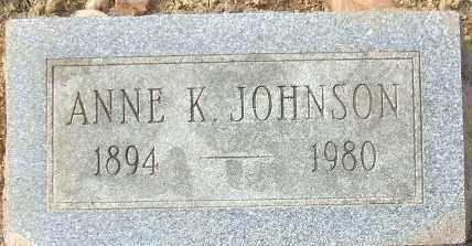 JOHNSON, ANNE K. - Minnehaha County, South Dakota   ANNE K. JOHNSON - South Dakota Gravestone Photos