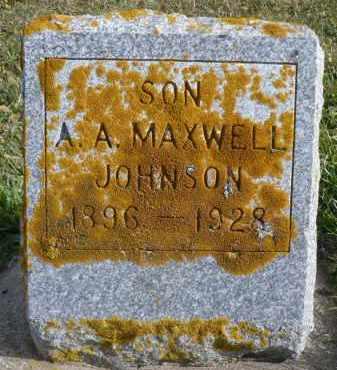 JOHNSON, A.A. MAXWELL - Minnehaha County, South Dakota | A.A. MAXWELL JOHNSON - South Dakota Gravestone Photos