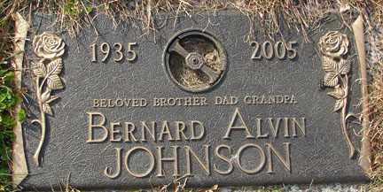 JOHNSON, BERNARD ALVIN - Minnehaha County, South Dakota | BERNARD ALVIN JOHNSON - South Dakota Gravestone Photos
