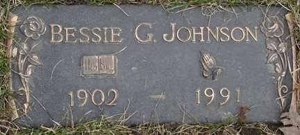 JOHNSON, BESSIE G. - Minnehaha County, South Dakota | BESSIE G. JOHNSON - South Dakota Gravestone Photos