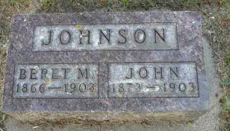 JOHNSON, BERET M. - Minnehaha County, South Dakota   BERET M. JOHNSON - South Dakota Gravestone Photos