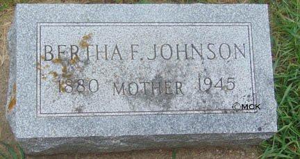 JOHNSON, BERTHA F. - Minnehaha County, South Dakota | BERTHA F. JOHNSON - South Dakota Gravestone Photos