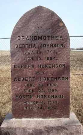 HOKENSON, HOKEN - Minnehaha County, South Dakota | HOKEN HOKENSON - South Dakota Gravestone Photos
