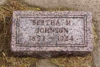 JOHNSON, BERTHA M. - Minnehaha County, South Dakota | BERTHA M. JOHNSON - South Dakota Gravestone Photos