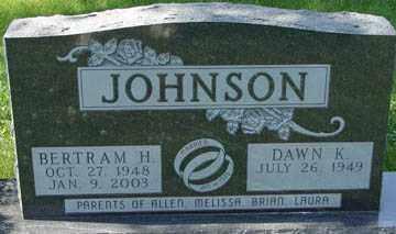 JOHNSON, BERTRAM H. - Minnehaha County, South Dakota   BERTRAM H. JOHNSON - South Dakota Gravestone Photos