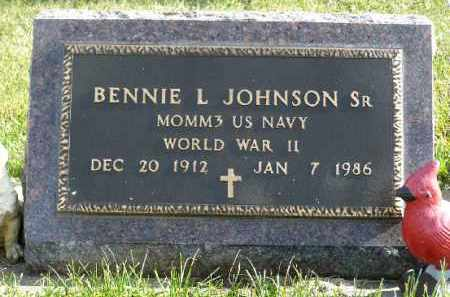 JOHNSON, BENNIE L. SR. (WWII) - Minnehaha County, South Dakota | BENNIE L. SR. (WWII) JOHNSON - South Dakota Gravestone Photos