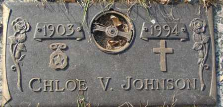 JOHNSON, CHLOE V. - Minnehaha County, South Dakota | CHLOE V. JOHNSON - South Dakota Gravestone Photos