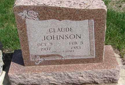 JOHNSON, CLAUDE - Minnehaha County, South Dakota | CLAUDE JOHNSON - South Dakota Gravestone Photos