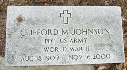 JOHNSON, CLIFFORD M. - Minnehaha County, South Dakota | CLIFFORD M. JOHNSON - South Dakota Gravestone Photos