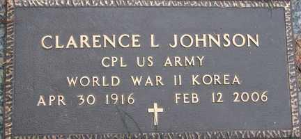 JOHNSON, CLARENCE L. (WWII - KOREA) - Minnehaha County, South Dakota | CLARENCE L. (WWII - KOREA) JOHNSON - South Dakota Gravestone Photos