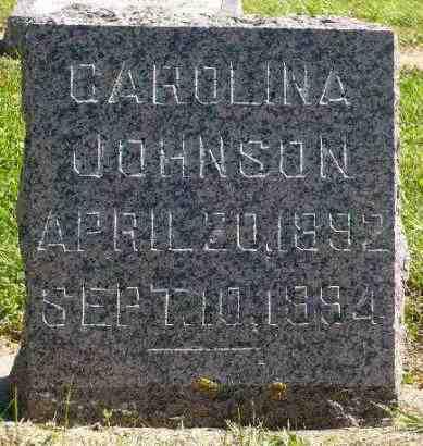 JOHNSON, CAROLINA - Minnehaha County, South Dakota   CAROLINA JOHNSON - South Dakota Gravestone Photos
