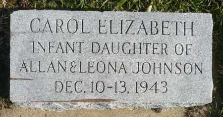 JOHNSON, CAROL ELIZABETH - Minnehaha County, South Dakota | CAROL ELIZABETH JOHNSON - South Dakota Gravestone Photos