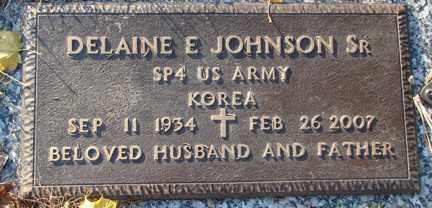 JOHNSON, DELANINE EDWARD  SR. - Minnehaha County, South Dakota   DELANINE EDWARD  SR. JOHNSON - South Dakota Gravestone Photos
