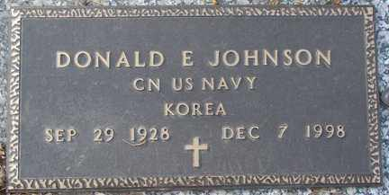 JOHNSON, DONALD E. - Minnehaha County, South Dakota | DONALD E. JOHNSON - South Dakota Gravestone Photos
