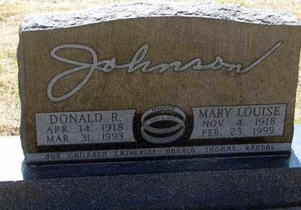 JOHNSON, MARY LOUISE - Minnehaha County, South Dakota   MARY LOUISE JOHNSON - South Dakota Gravestone Photos