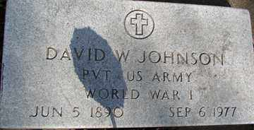 JOHNSON, DAVID W. (WWI) - Minnehaha County, South Dakota | DAVID W. (WWI) JOHNSON - South Dakota Gravestone Photos