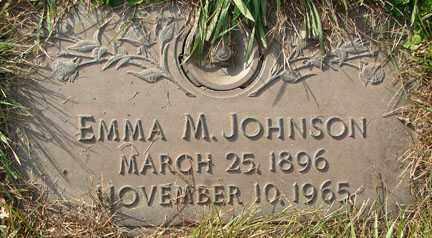JOHNSON, EMMA M. - Minnehaha County, South Dakota | EMMA M. JOHNSON - South Dakota Gravestone Photos