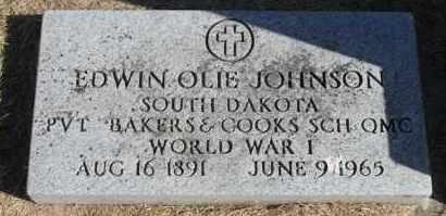 JOHNSON, EDWIN OLIE (WWI) - Minnehaha County, South Dakota | EDWIN OLIE (WWI) JOHNSON - South Dakota Gravestone Photos