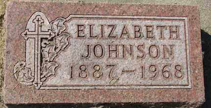 JOHNSON, ELIZABETH - Minnehaha County, South Dakota   ELIZABETH JOHNSON - South Dakota Gravestone Photos