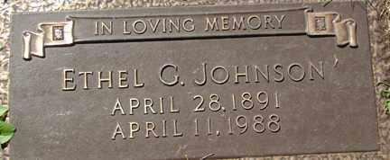 JOHNSON, ETHEL GERTRUDE - Minnehaha County, South Dakota | ETHEL GERTRUDE JOHNSON - South Dakota Gravestone Photos