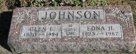 JOHNSON, GLEN E. - Minnehaha County, South Dakota | GLEN E. JOHNSON - South Dakota Gravestone Photos