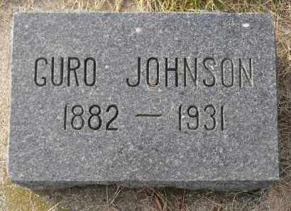 JOHNSON, GURO - Minnehaha County, South Dakota | GURO JOHNSON - South Dakota Gravestone Photos
