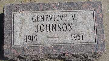 JOHNSON, GENEVIEVE V. - Minnehaha County, South Dakota | GENEVIEVE V. JOHNSON - South Dakota Gravestone Photos
