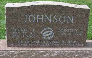 JOHNSON, GEORGE E. - Minnehaha County, South Dakota | GEORGE E. JOHNSON - South Dakota Gravestone Photos
