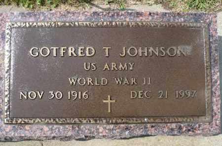JOHNSON, GOTFRED T. (WWII) - Minnehaha County, South Dakota | GOTFRED T. (WWII) JOHNSON - South Dakota Gravestone Photos