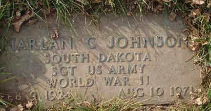 JOHNSON, HARLAN CHRISTIAN - Minnehaha County, South Dakota | HARLAN CHRISTIAN JOHNSON - South Dakota Gravestone Photos