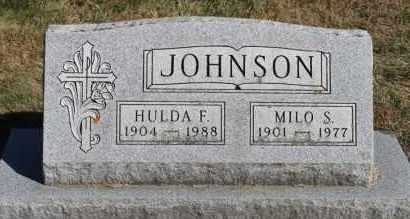 JOHNSON, HULDA F. - Minnehaha County, South Dakota | HULDA F. JOHNSON - South Dakota Gravestone Photos