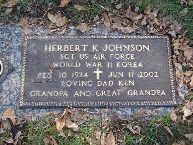 JOHNSON, HERBERT K, - Minnehaha County, South Dakota | HERBERT K, JOHNSON - South Dakota Gravestone Photos